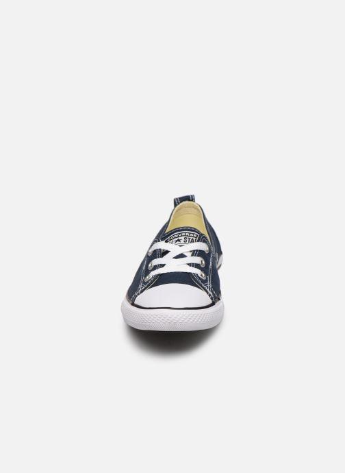 Sneaker Converse Chuck Taylor  Ballet Lace Slip blau schuhe getragen