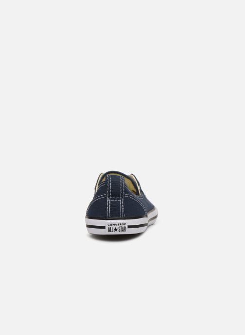 Sneaker Converse Chuck Taylor  Ballet Lace Slip blau ansicht von rechts