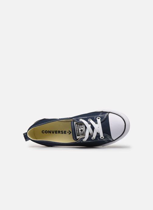 Sneaker Converse Chuck Taylor  Ballet Lace Slip blau ansicht von links