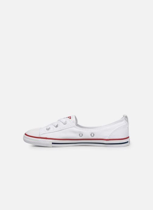 Sneaker Converse Chuck Taylor  Ballet Lace Slip weiß ansicht von vorne