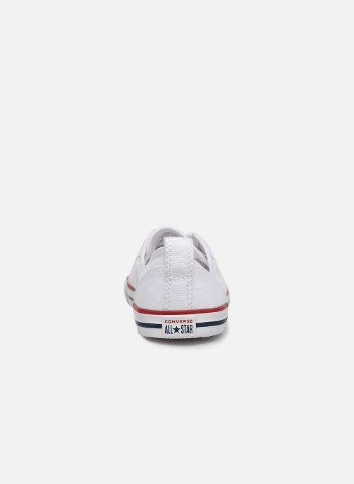Sneaker Converse Chuck Taylor  Ballet Lace Slip weiß ansicht von rechts