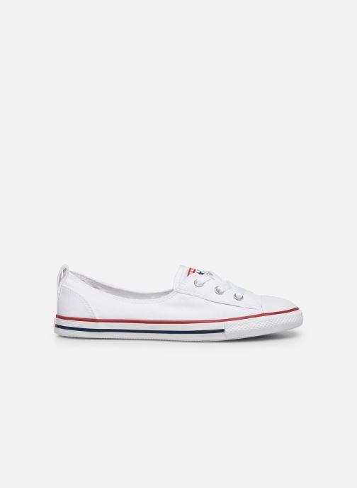 Sneaker Converse Chuck Taylor  Ballet Lace Slip weiß ansicht von hinten