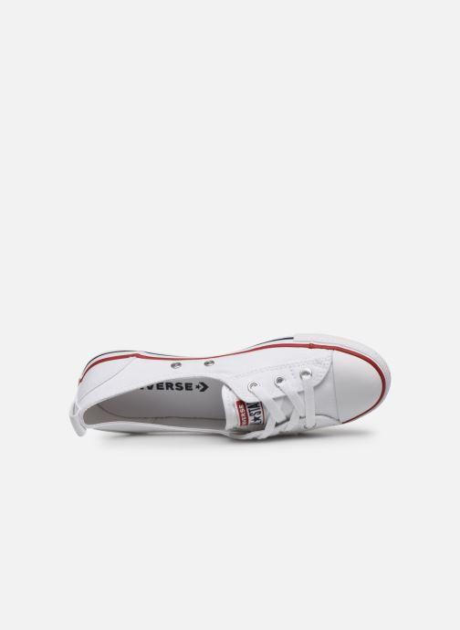 Sneaker Converse Chuck Taylor  Ballet Lace Slip weiß ansicht von links