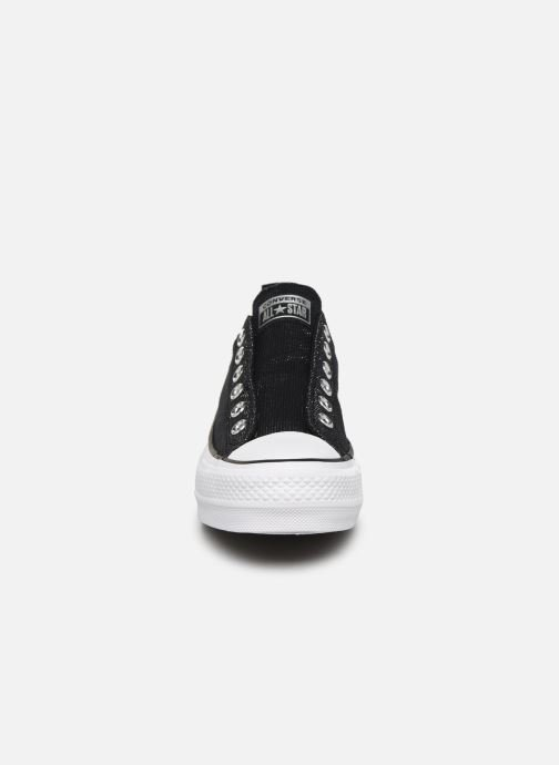 Sneakers Converse Chuck Taylor All Star Lift Slip Nero modello indossato