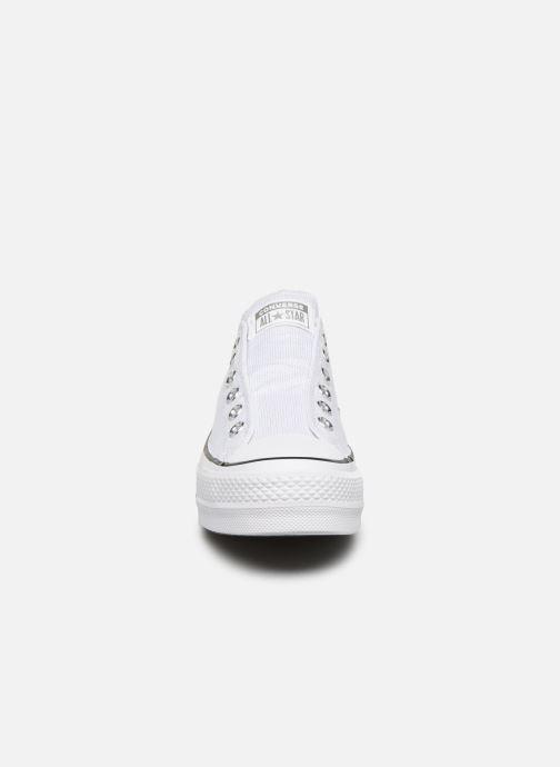Baskets Converse Chuck Taylor All Star Lift Slip Blanc vue portées chaussures