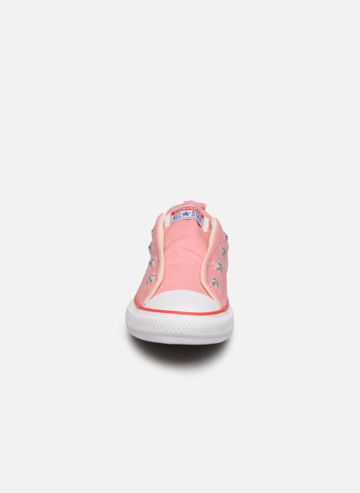 Baskets Converse Chuck Taylor All Star Teen Slip Coastal Rose vue portées chaussures