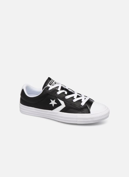 Deportivas Converse Star Player Leather Essentials Ox W Negro vista de detalle / par
