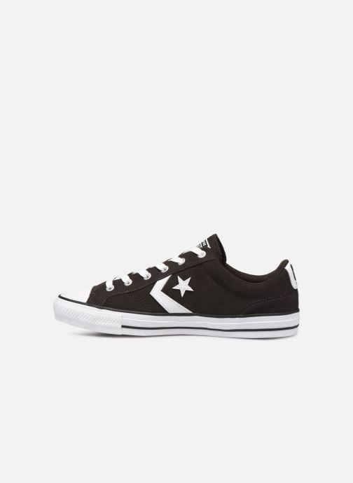 Trainers Converse Star Player Ox Velvet M Black front view