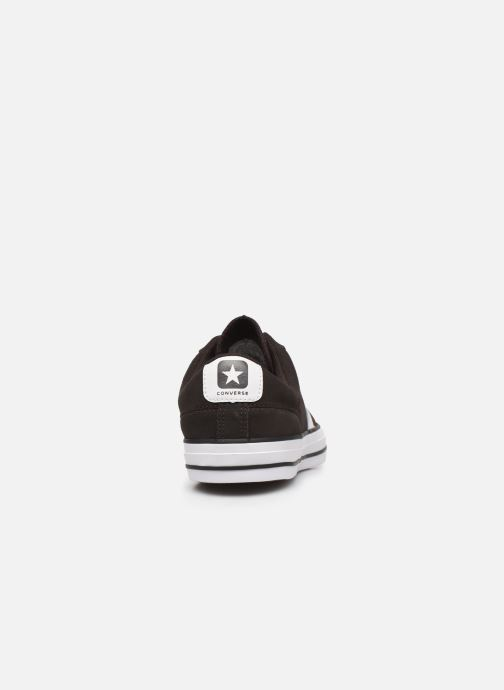 Trainers Converse Star Player Ox Velvet M Black view from the right