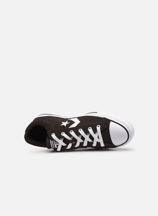 Trainers Converse Star Player Ox Velvet M Black view from the left