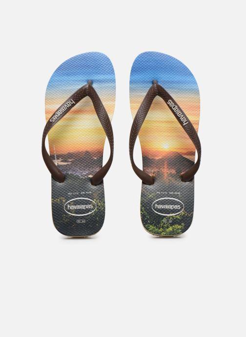 Zehensandalen Havaianas Hav. Hype M mehrfarbig schuhe getragen