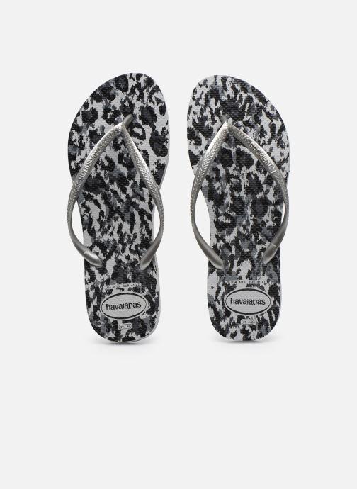 Tongs Havaianas HAV. SLIM ANIMALS Gris vue portées chaussures