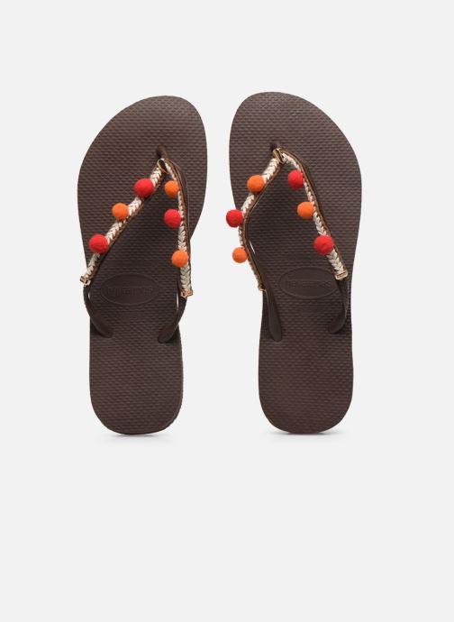 Tongs Havaianas HAV. SLIM BOHO Marron vue portées chaussures