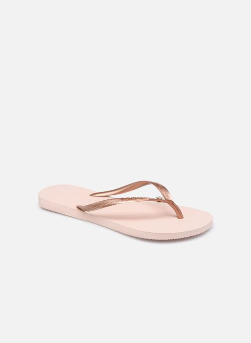 Tongs Havaianas HAV. SLIM CRYSTAL GLAMOUR SW Rose vue détail/paire