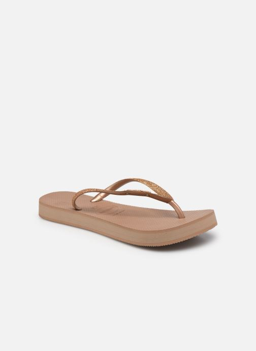 Slippers Havaianas Hav. Slim Flatform Glitter W Roze detail