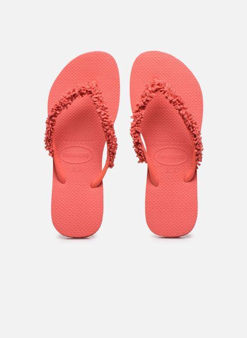 Zehensandalen Havaianas HAV. SLIM FRINGE rot schuhe getragen