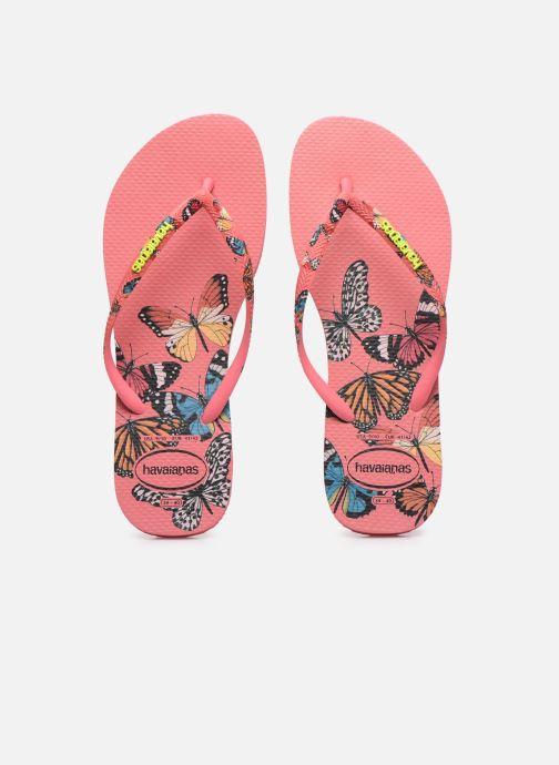 Tongs Havaianas HAV. SLIM SENSATION Multicolore vue portées chaussures