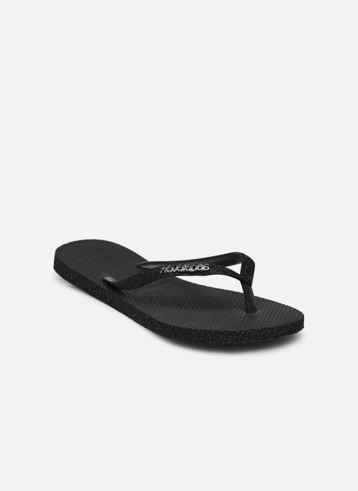 Tongs Havaianas HAV. SLIM SPARKLE Noir vue portées chaussures