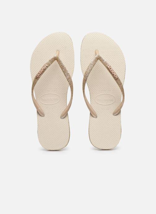 Tongs Havaianas HAV. SLIM SPARKLE Beige vue portées chaussures