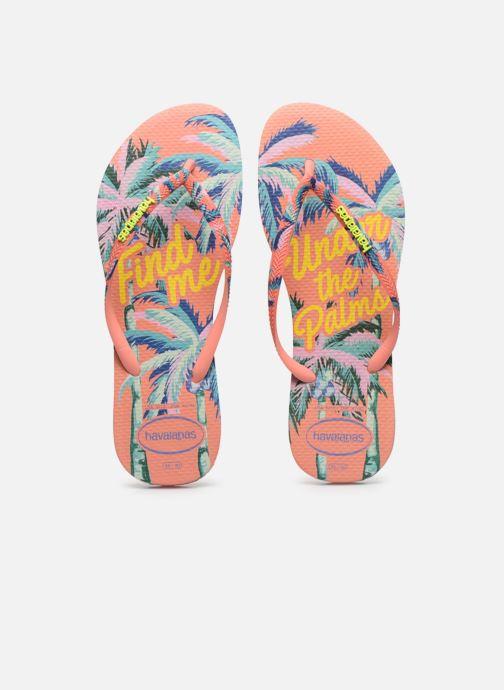 Tongs Havaianas HAV. SLIM SUMMER Multicolore vue portées chaussures