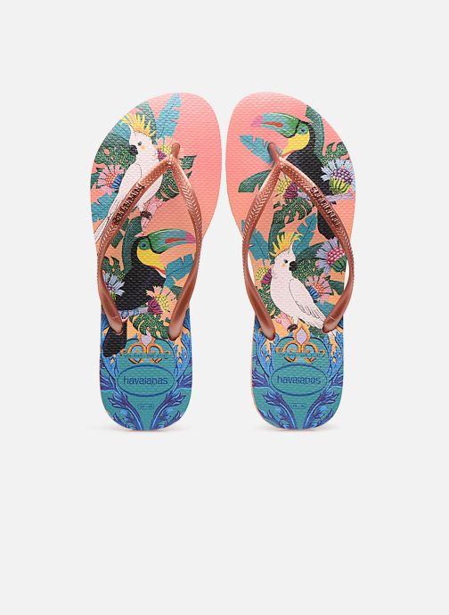 Tongs Havaianas HAV. SLIM TROPICAL Multicolore vue portées chaussures