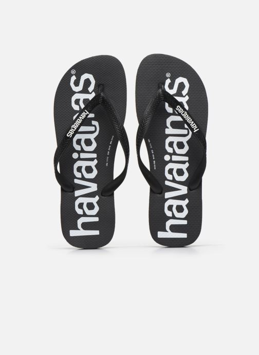 Tongs Havaianas HAV. TOP LOGOMANIA Noir vue portées chaussures