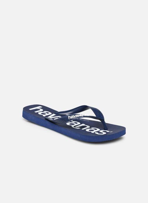 Tongs Havaianas HAV. TOP LOGOMANIA Bleu vue portées chaussures