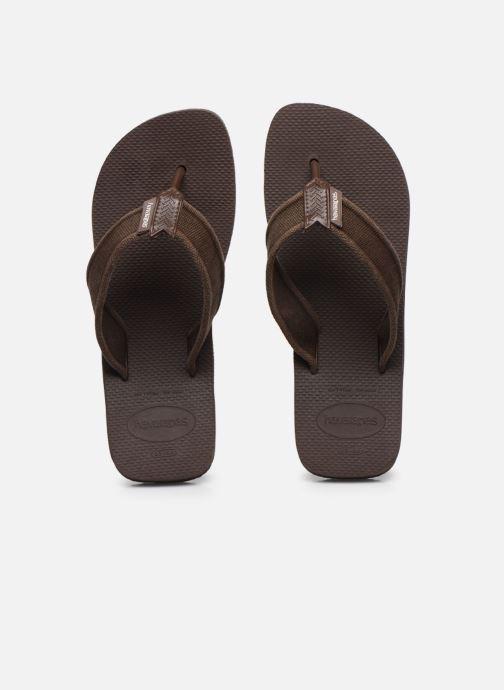 Tongs Havaianas HAV. URBAN BASIC II Marron vue portées chaussures