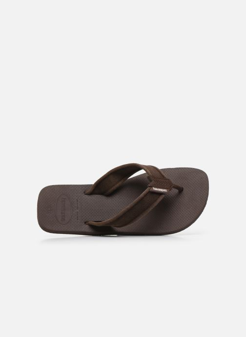 Tongs Havaianas HAV. URBAN BASIC II Marron vue gauche