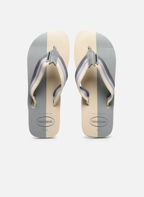 Tongs Havaianas HAV. URBAN COLOR BLOCK Vert vue portées chaussures