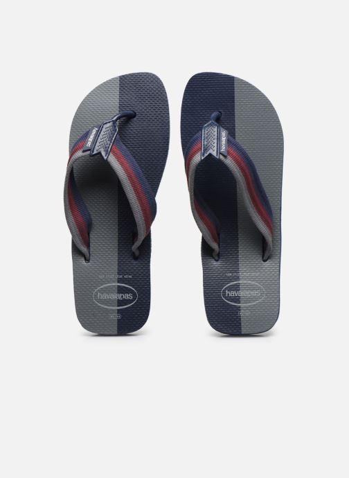 Tongs Havaianas HAV. URBAN COLOR BLOCK Bleu vue portées chaussures