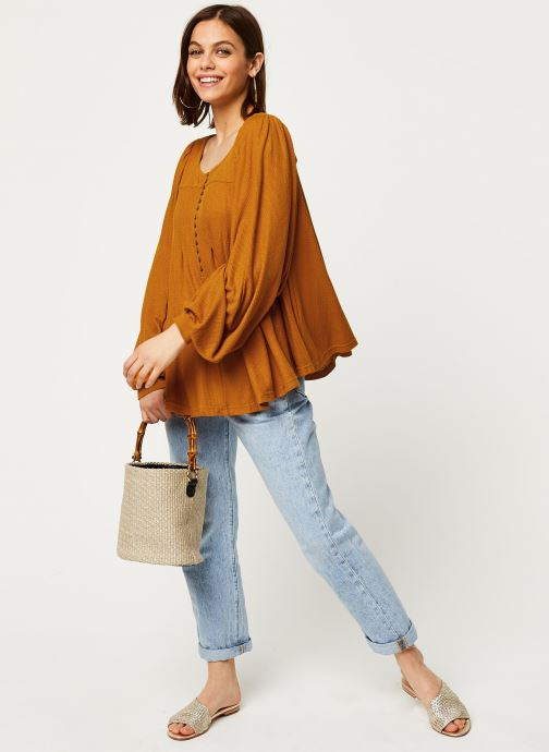 Free People Blouse - Devin Top (Marron) - Vêtements (411237)