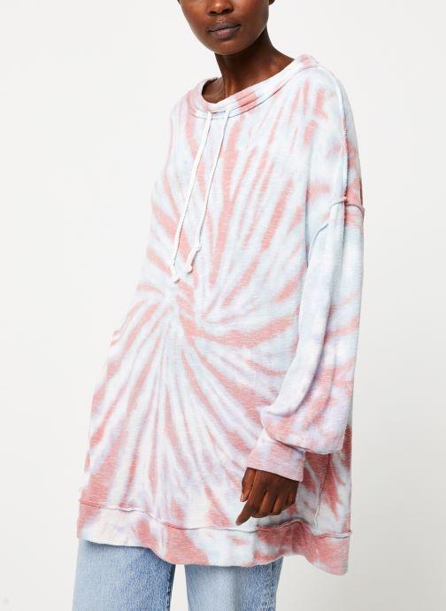 Vêtements Free People BEST CATCH TIE DYE TEE Blanc vue détail/paire