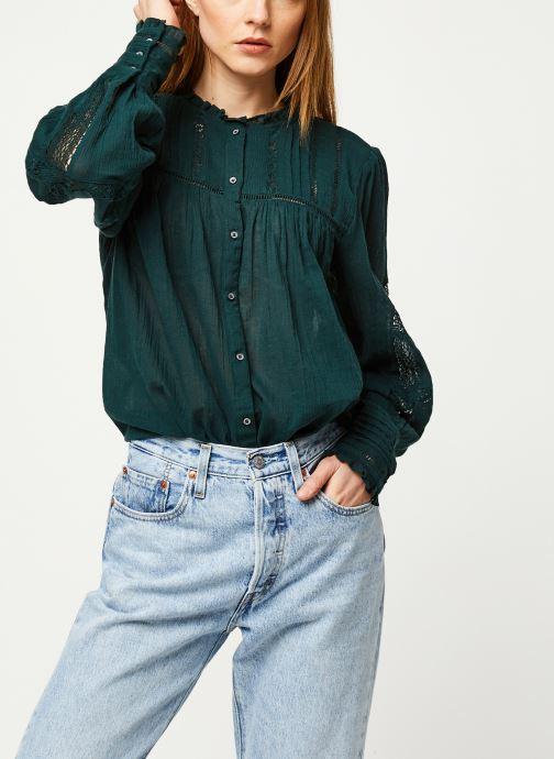 Vêtements Free People EMMA BUTTONDOWN Vert vue détail/paire