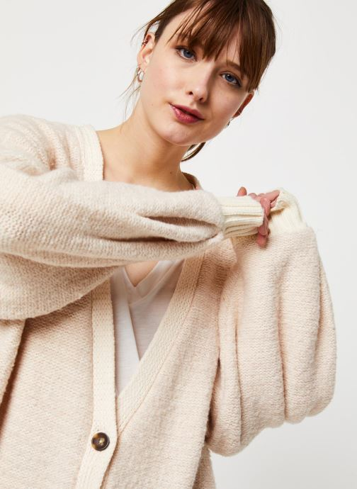 Vêtements Free People SNOW DROP CARDI Beige vue face