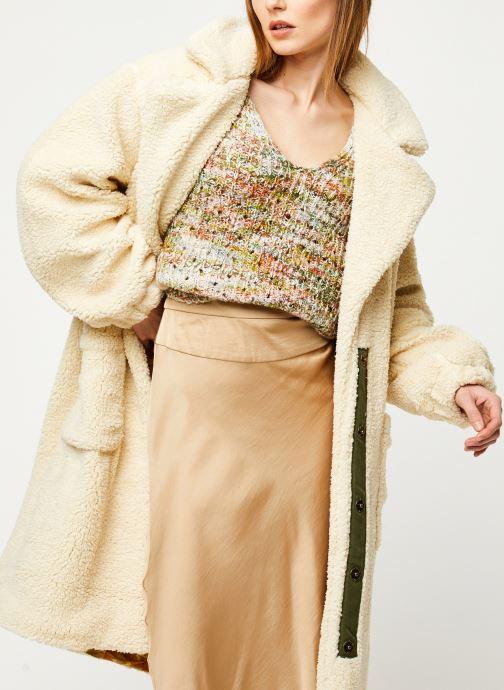 Vêtements Free People TESSA TEDDY COAT Blanc vue détail/paire