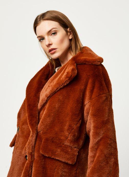 Vêtements Free People SOLID KATE FAUX FUR COAT Marron vue face