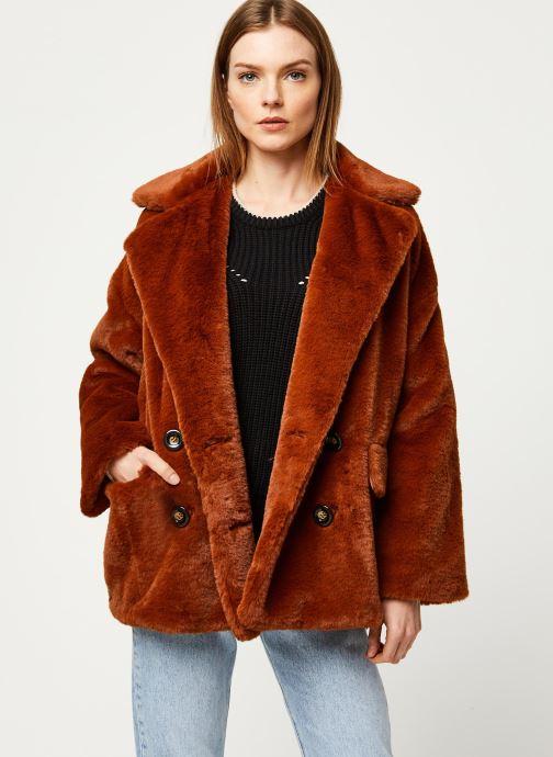 Vêtements Free People SOLID KATE FAUX FUR COAT Marron vue détail/paire