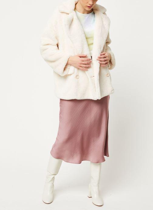 Vêtements Free People SOLID KATE FAUX FUR COAT Blanc vue bas / vue portée sac