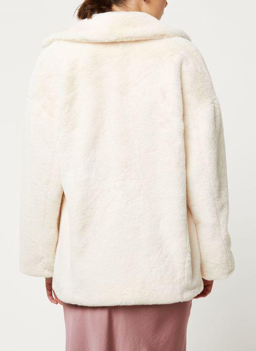 Vêtements Free People SOLID KATE FAUX FUR COAT Blanc vue portées chaussures