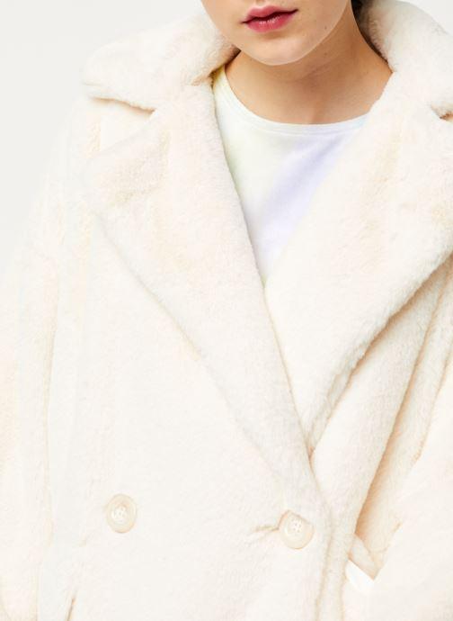 Vêtements Free People SOLID KATE FAUX FUR COAT Blanc vue face
