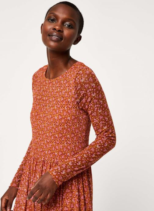 Vêtements Free People HELLO AND GOODYBYE MIDI Marron vue face