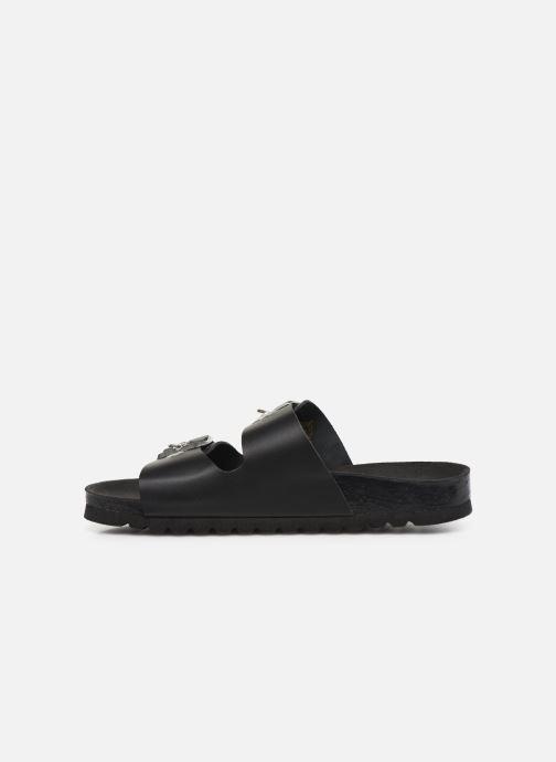 Mules & clogs Vero Moda Vmlaura Leather Sandal Black front view