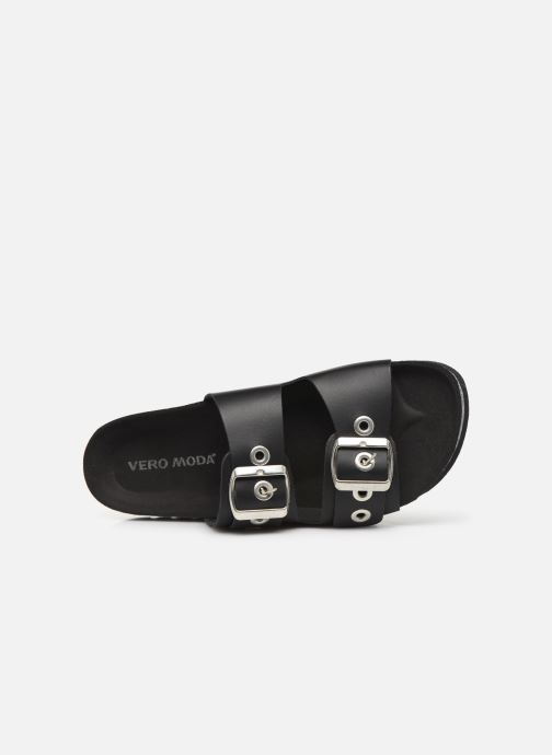 Mules & clogs Vero Moda Vmlaura Leather Sandal Black view from the left