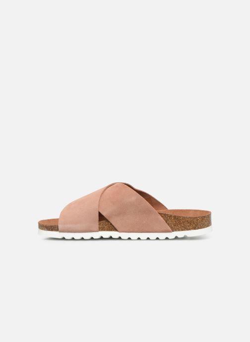 Zuecos Vero Moda Vmholly Leather Sandal Rosa vista de frente
