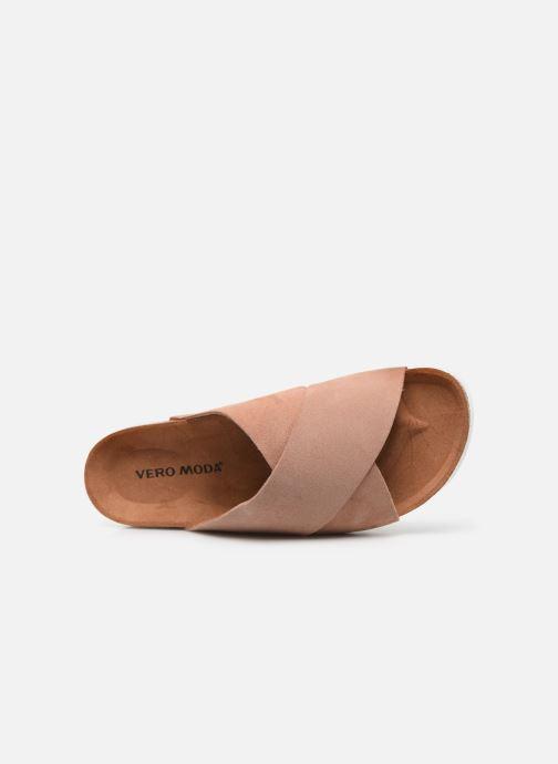 Zuecos Vero Moda Vmholly Leather Sandal Rosa vista lateral izquierda