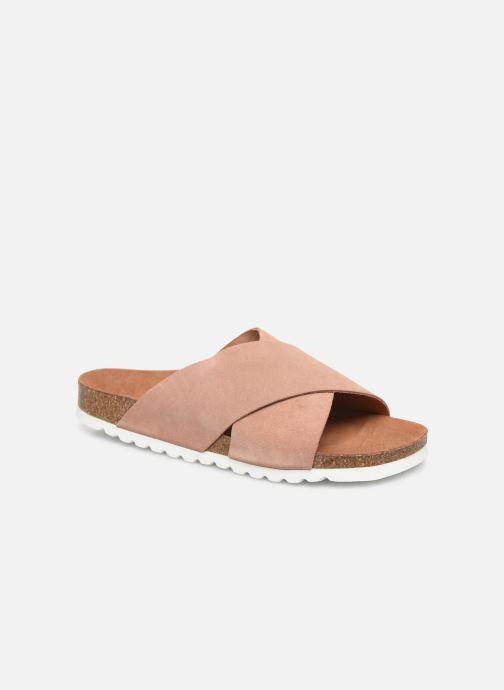 Zuecos Vero Moda Vmholly Leather Sandal Rosa vista de detalle / par