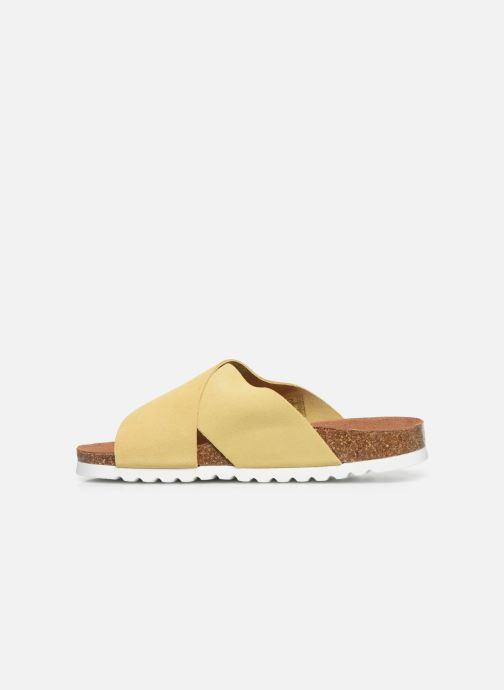 Zuecos Vero Moda Vmholly Leather Sandal Amarillo vista de frente