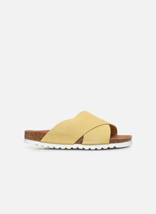 Clogs & Pantoletten Vero Moda Vmholly Leather Sandal gelb ansicht von hinten