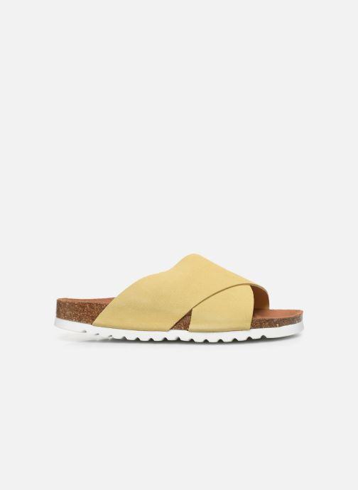 Zuecos Vero Moda Vmholly Leather Sandal Amarillo vistra trasera